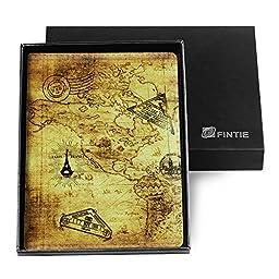 Fintie Passport Holder Travel Wallet [Retail Packaging] RFID Blocking - PU Leather Passport Case Cover, Map Design