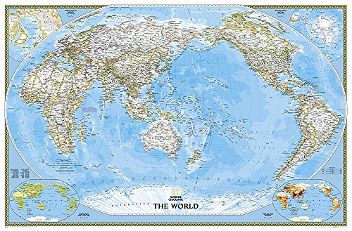 World Classic, Pacific Centered [Enlarged and Laminated] (National Geographic Reference Map)