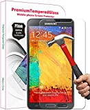 PThink® 0.3mm Ultra-thin Tempered Glass Screen Protector for Samsung Galaxy Note 3 with 9H Hardness/Anti-scratch/Fingerprint resistant (Samsung Galaxy Note 3)