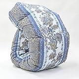 西川 羽毛布団 ホワイト グース ダウン90% 日本製 抗菌 防臭 AI937 (セミダブル:170×210cm, ブルー)