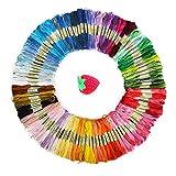 たっぷりまとめ買い 25番 刺繍糸 100色 8m 100束 6本綴 600本 セット クロスステッチ