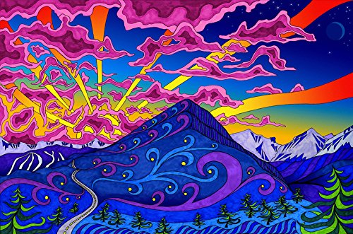 Psychedelic-Trippy-Art-Fabric-Cloth-Rolled-Wall-Poster-Print-Size-36-x-24-20-x-13