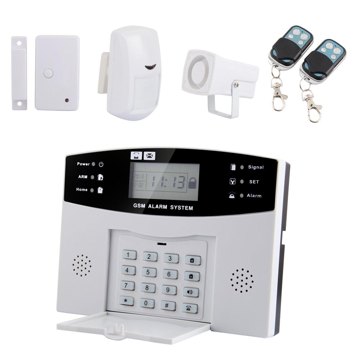 Yorbay® Funk Haus Alarmsystem GSM Alarmanlage Wireless Sicherheitsanlage SIM Karte Einbruchmeldeanlage (GSM Alarmzentrale+IR Sensor Bewegungsmelder+Öffnungsmelder Tür / FensterMagnetkontakt+Fernbedienung) Komplettsystem  BaumarktKundenbewertung und Beschreibung