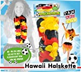 FAN AND FUN Hawaii Halskette in den Deutschland-Farben