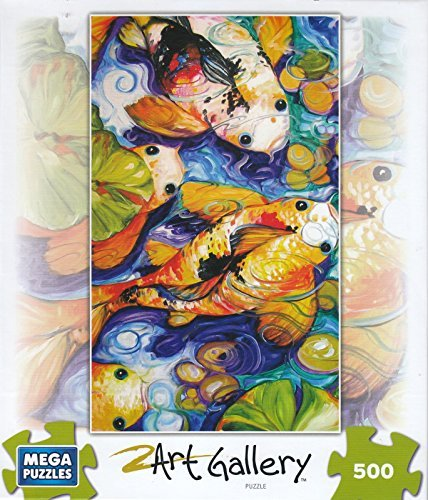 Frog Friend Koi Pond 500 Piece Puzzle by Mega Brands