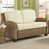 Home Styles 5401-60 Naples Cabana Banana Love Seat, Honey Finish