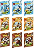 Lego - Mixels - Full Set of 9 series 2 figure sets - Chomly, Gobba, Jawg, Kraw, Balk, Tentro, Slumbo, Lunk and Flurr