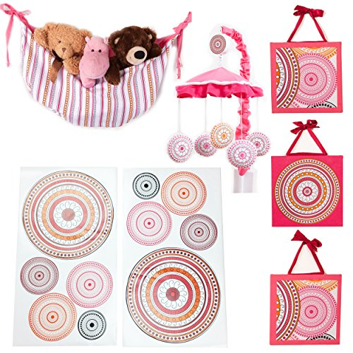 One Grace Place Sophia Lolita Infant Accessory Set, White, Pink, Berry, Orange, Black - 1