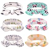 Baby Headbands Turban Knotted, Girl's Hairbands for Newborn,Toddler and Childrens (6Pcs Rabbit Ears) (Color: 6pcs Rabbit Ears, Tamaño: adjustable)