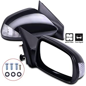 SCITOO Side View Mirrors A Pair of Mirrors Fit Compatible with 2005-2010 Scion TC Base Coupe 2-Door 2.4L SC1320102 SC1321102 Power Adjustment Manual Folding Non-Heated Turn Signal