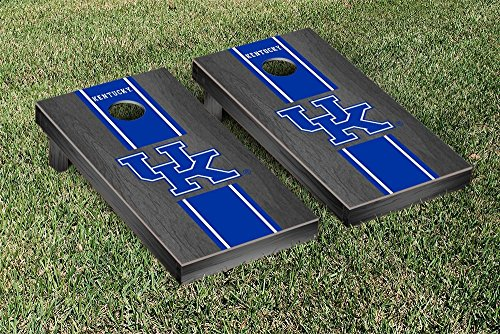 Kentucky UK Wildcats Cornhole Game Set Onyx Stained Stripe Version 1 (Corn Hole Kentucky compare prices)