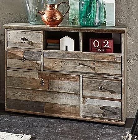 Kommode 18302 Sideboard Anrichte Wohnzimmerschrank Driftwood Nachbildung