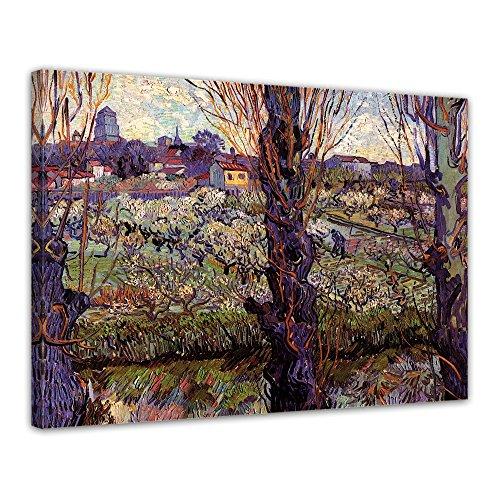 """Bilderdepot24 Leinwandbild Vincent van Gogh - Alte Meister """"Blick auf Arles"""" 70x50cm - fertig gerahmt, direkt vom Hersteller"""