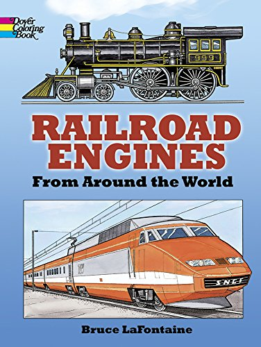 Railroad Engines from Around the World Coloring Book (Dover History Coloring Book)