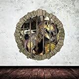 EMIRACLEZE Christmas Gift Holiday Shopping 3d Style Jurassic Park Stereoscopic Wall Dinosaur Removable Mural Wall Stickers Wall Decal for Children Bedroom Home Decor