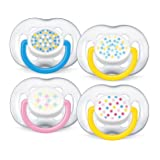 Philips Avent BPA Free Freeflow Pacifier, Colors May Vary, 2 Count (Color: Multicolor, Tamaño: 6-18 Months)