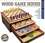 Game House Games Compendium, 10 Classic Games: Chess, Solitaire, Backgammon, Snakes & Ladders, Checkers, Tic Tac Toe, Passout, Parchisi, Mancala, Chinese Checkers
