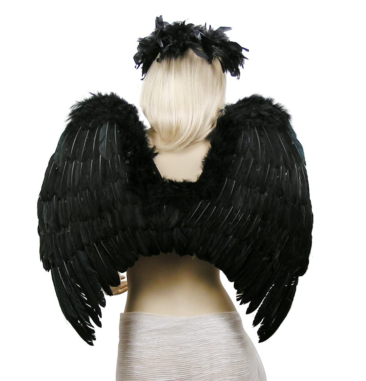 Costume Feather Wings Halo