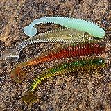 Generic Red Black 10 Pcs 7cm : Japan South Korea Series Soft Bait Fishing Lure 5cm/7.5cm Super Attraction Worm...