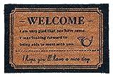 玄関マット レゾン コイヤーマット ベージュ 40×60cm 4264-04