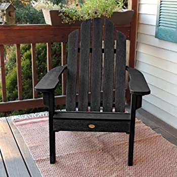 Highwood Classic Westport Adirondack Chair, Black