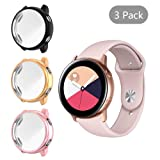[3 Pack] LittleForest Smartwatch Screen Protector Case Compatible for Samsung Galaxy Watch Active, Full Body Protection TPU Anti-Scratch Cover for Samsung Galaxy Watch 40mm- [Black+Pink+Rose Gold] (Color: Black+Pink+Rose Gold)