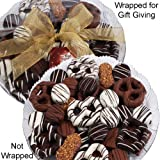 Art of Appreciation Gift Baskets Summer Gift Platter 94 Piece (Premium Belgian Chocolate White, Dark and Milk Dipped Treats)