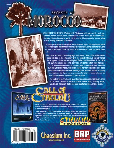 Secrets of Morocco: Eldritch Explorations in the Ancient Kingdom (Call of Cthulhu Novel)
