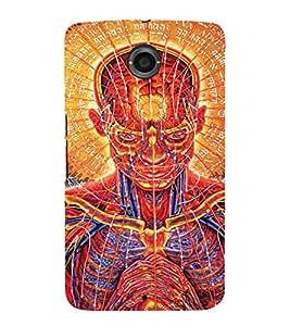 EPICCASE Abstract Face Art Mobile Back Case Cover For Motorola Google Nexus 6 (Designer Case)