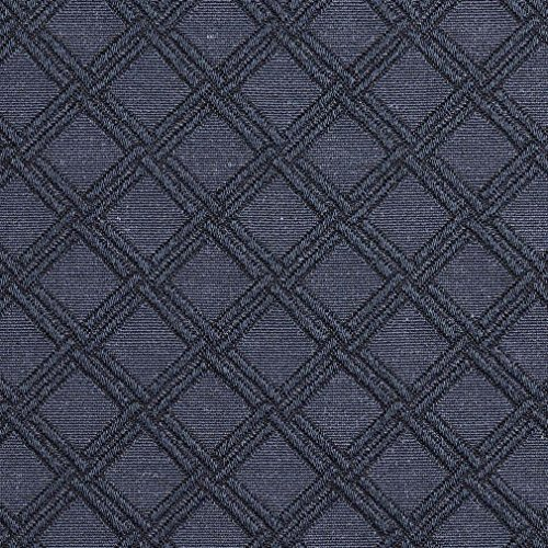 E547 Blue Diamond Jacquard Woven Contemporary Upholstery Grade Fabric By The Yard (Buy Upholstery Fabric compare prices)