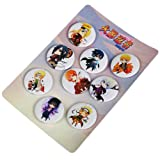 Bowinr 9pcs Japanese Anime Brooches & Pins, 1.4 inch Super Kawaii Brooch Pins for Clothes, Bags, Caps and Pencil Cases( Naruto Shippuden) (Color: Naruto Shippuden, Tamaño: Normal)