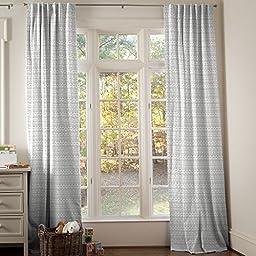 Carousel Designs Silver Gray Baby Aztec Drape Panel 96-Inch Length Standard Lining 42-Inch Width
