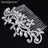 New Leaf Crystal Imitation Gemstone Bridal Hair Combs Hairpin Tiara Wedding Hair Accessories Hair Jewelry