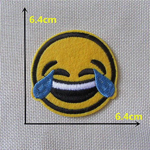 [FairyPark Child Like Smiling Face Patch Hot Melt Adhesive Applique Embroidery Patch Diy Decoration Accessory 1Pcs Perfect] (Child Star Wars Costume Australia)