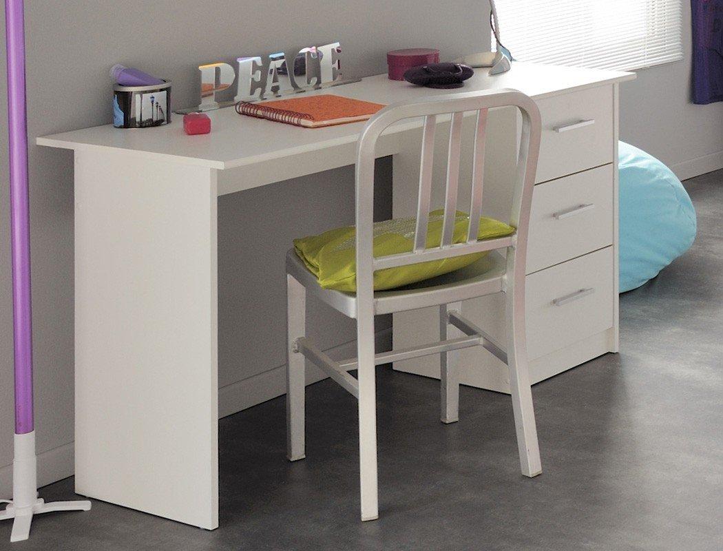 Schreibtisch Bürotisch Inaco weiß 121x75x55 cm Computertisch Tisch Arbeitszimmer Jugendzimmer günstig kaufen