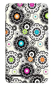 Omnam Flower Pattern Printed Designer Back Cover Case For Lenovo Vibe K5 Plus