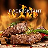 "Top Grill Mats | Non-Stick and Fire Resistant BBQ Grilling Sheet for Hot Barbecue Season | Set of 3 Pieces 13"" x 15.7"" Fiberglass Coating Mat 