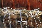 ガーデンファニチャー:アルミテーブル丸3点セット【商品番号:32601-32603】