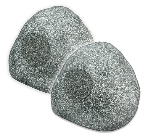 OSD Audio RS680 Ultra Sound Outdoor Rock Speaker (Pair, Granite Grey)