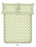 Bombay Dyeing Cardinal Cotton Double One bedsheet and Two Pillow cover Multicolor