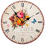 KI Store Silent Wall Clock Decorative, Premium Vintage Wall Clocks 12""