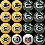 NFL Green Bay Packers Home Versus Away Team Billiard 8-Ball Set