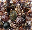Approx 275 x Tribal Bronze Copper Bead Jewellery Making Starter Beads Mix Set