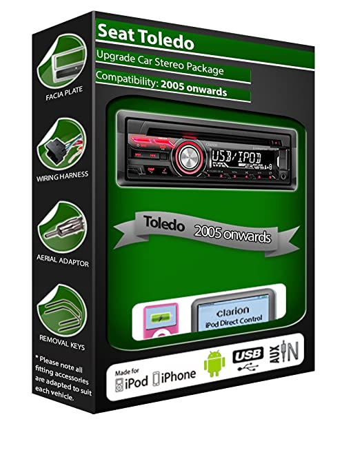 SEAT TOLEDO Lecteur CD stéréo de voiture RADIO Clarion USB Play iPod iPhone Android Kit