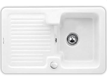 Villeroy & Boch Condor 45 nevar White Weiß Einbau Kuchen-Keramikspule Spulbecken