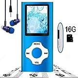 MP3 Player / MP4 Player, Hotechs MP3 Music Player 16GB Memory SD Card Slim Classic Digital LCD 1.82'' Screen FM Radio, ¡ (16GB-Blue-09.) (Color: 16GB-Blue-NEW.)