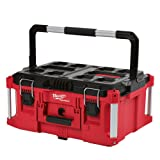 Heavy Duty, Versatile And Durable Modular Storage System PACKOUT 22 in. Large Tool Box By Milwaukee, Interior Organizer Trays, Heavy Duty Latches (Color: Red, Tamaño: large)