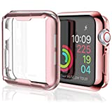 [2 Pack] Misxi Rose Gold Case Compatible with Apple Watch Series 4 Screen Protector 44mm, iwatch Cover TPU Overall Protection Ultra-Thin Case for Apple Watch Series 4 44mm (1 Rose Gold +1 Transparent) (Color: 1 Rose Gold +1 Transparent For 44mm, Tamaño: case for series 4 44mm)