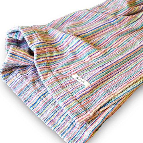 ブルーム 今治産 リユースストライプ 残糸 タオルケット アウトレット (シングルサイズ)