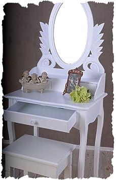 schminktisch mit hocker vintage home konsole weiss landhausstil retro palazzo exclusiv db663. Black Bedroom Furniture Sets. Home Design Ideas
